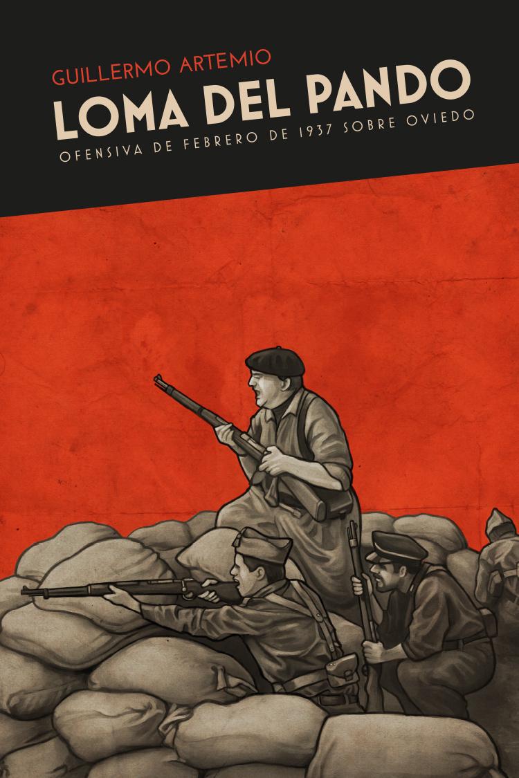 Diseño de portada libro Guerra Civil Española «Loma del Pando»