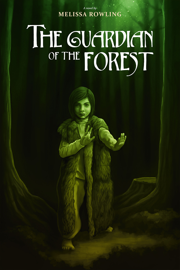 Diseño de portada novela fantástica «The Guardian of the Forest»
