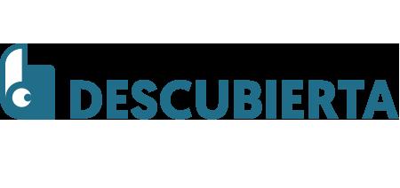 Descubierta book cover design logo