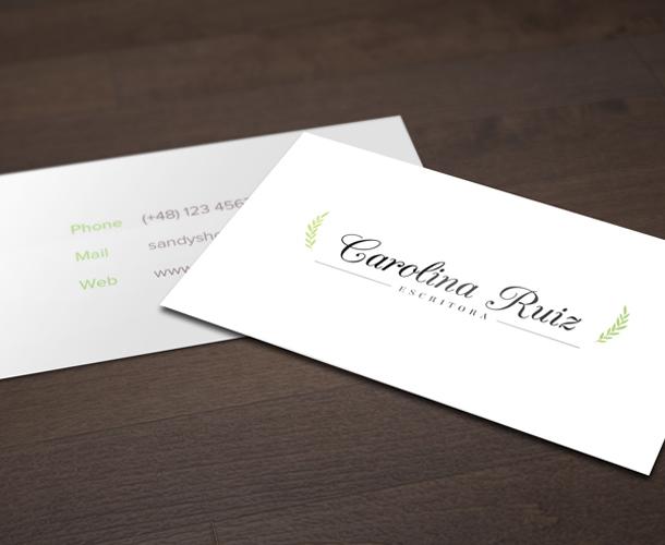 Diseño de tarjetas de visita para escritores
