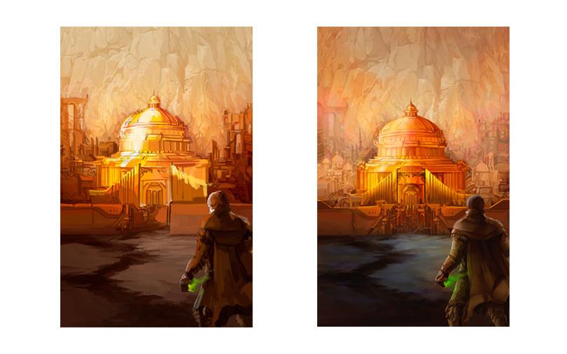 Añadiendo detalles a la ilustración de portada