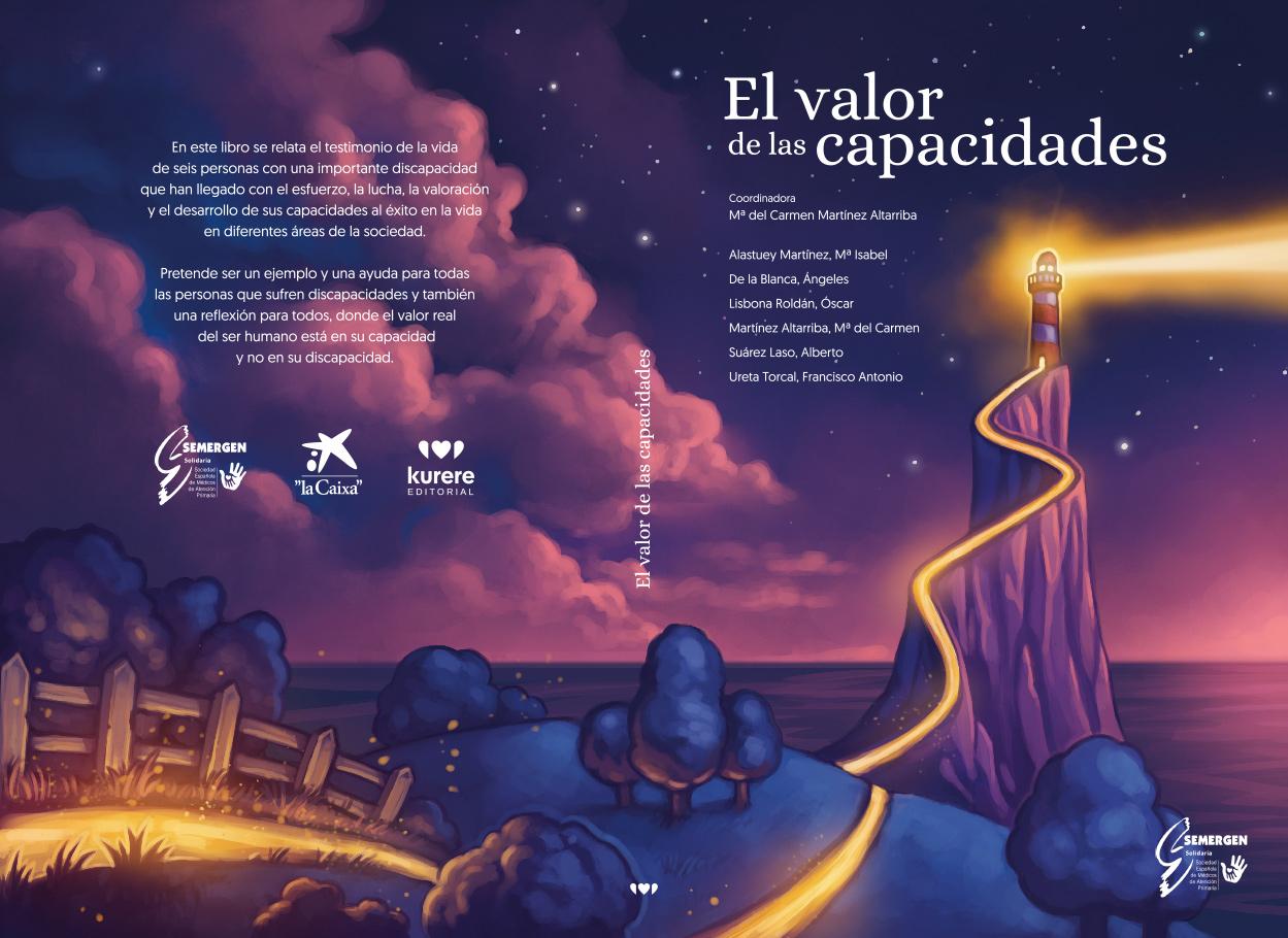 Diseño de cubierta ilustrada para «El valor de las capacidades»