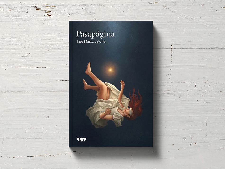 Diseño de portada ilustrada para Pasapágina, editado por Kurere