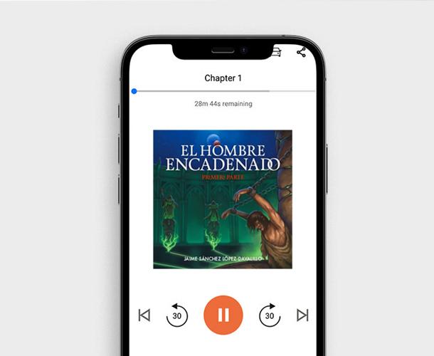 Diseño de portada para audiolibro