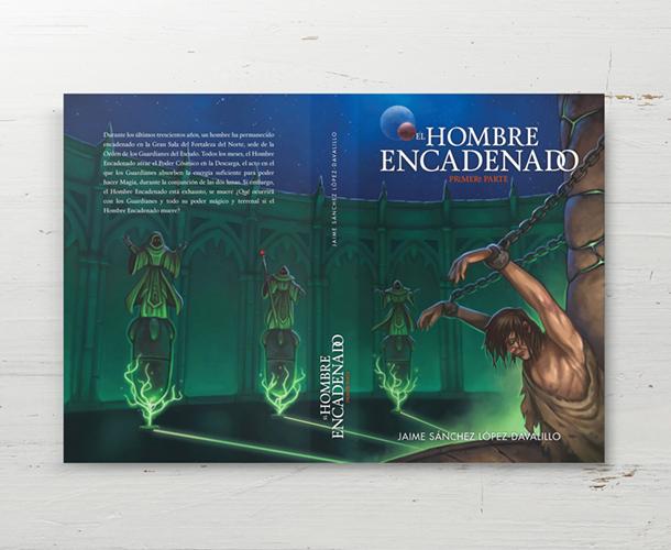 Ilustración para contraportada de libro