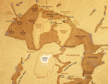 Diseño de mapa literario